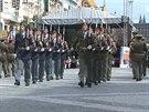 Na Václavském náměstí své umění předvedli zástupci čestných stráží šesti armád