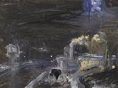 Jakub Špaňhel - obraz z cyklu Benzínky (2007)