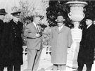 Za��tkem roku 1961 na porad� v So�i s Nikitou Chru��ovem konstrukt��i Ivan Makejev a Michail Jangel