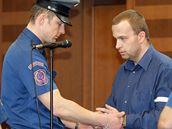 """""""Heparinový vrah"""" Petr Zelenka u soudu"""