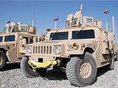 Americká vozidla Humvee v českých službách v Afghánistánu