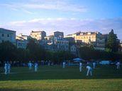 Kriket je obl�ben�m sportem nejenom v Anglii, ale tak� na ostrov� Korfu