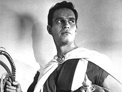 Charlton Heston jako Ben Hur. Za roli dostal roku 1959 Oscara.