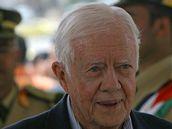 Jimmy Carter během návštěvy Západního břehu Jordánu