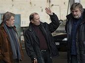Vladimír Kratina (vpravo) s Janem Kanyzou (vlevou) a Michalem Pavlatou v