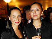 43. MFFKV - opening party - Sandra Nov�kov� s kamar�dkou