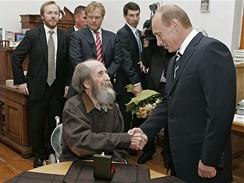 Alexandr Solženicyn a Vladimír Putin
