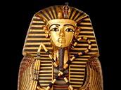 Z výstavy Tutanchamon: jeho hrob a poklady - sarkofág faraona Tutanchamona