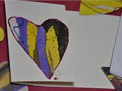 Valentýnské přání s hedvábným srdcem.