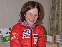 VE 20 LETECH. Veronika V�tkov�, velk� juniorsk� nad�je a medailistka, p�i on-line rozhovoru