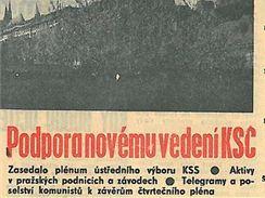 Noviny před 40 lety: Po zasedání ÚV KSČ