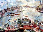 Oskar Kokoschka a jeho obraz Londýn - Chelsea Reach (vydražen za 19,5 milionu).