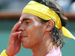 Smutný Rafael Nadal