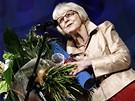 Zahájení 44. ročníku filmového festivalu. Eva Zaoralová převzala cenu od ministra kultury.