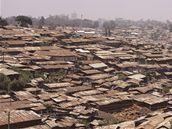 Slum Kibera u keňského Nairobi (16. září 2009)