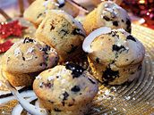 Kokosové muffiny s borůvkami