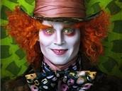 Z filmu Alenka v říši divů - Johnny Depp v roli bláznivého Kloboučníka