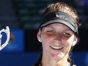 Karol�na Pl�kov� - v�t�zka juniorky Australian Open 2010