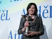 Marie Rottrová po zisku ceny Anděl v roce 2009.