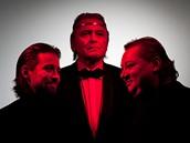 Letní shakespearovské slavnosti 2010 - Jan Dolanský (princ Jindra), Ladislav Mrkvička (král Jindřich IV.), Norbert Lichý (Falstaff) k inscenaci Jindřich IV.