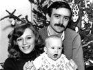 Iveta Radičová, její dcera Eva a manžel Stano Radič (1980)