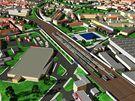 Vizualizace nového nádraží v Brně (zastávka Brno-Židenice/Bubeníčkova)