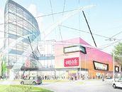 Plánované obchodní centrum Aupark Koruna v Hradci Králové