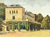 Šlechtova restaurace ve Stromovce na barevné pohlednici z počátku 20. století.
