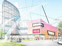 Plánované hradecké obchodní centrum Aupark.