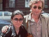 John Lennon a jeho manželka Yoko Ono v New Yorku v roce 1980