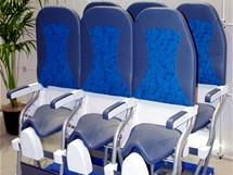 Nová sedadla do letadel zvaná SkyRider