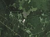 Záběr kosmodromu Pleseck z jihokorejské družice Kompsat 2