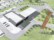 Vizualizace plánované obchodní zóny Krkonošská v Trutnově