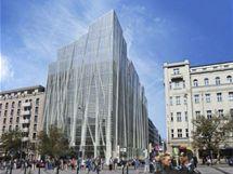 Jeden ze soutěžních návrhů, který společnost Flow East nepřijala. I takové měli architekti představy o podobě nového domu.