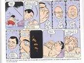 Komiks v časopise Reflex, který Paroubková žalovala