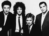 Bývalá britská hudební skupina Queen na snímku z roku 1989.