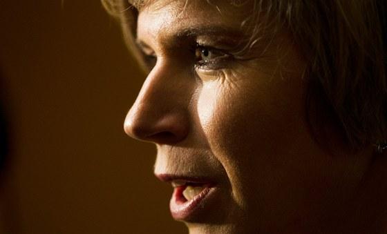 Předsedkyně organizačního výboru MS v Liberci Kateřina Neumannová na tiskové konferenci. (27. ledna 2011)