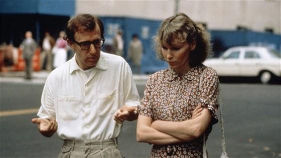 Z filmu Hana a její sestry (Woody Allen, Mia Farrow)