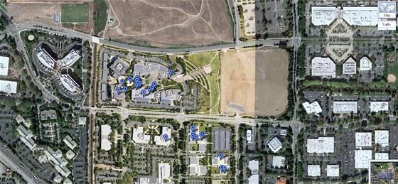 Googleplex v Mountain View je součástí Silicon Valley
