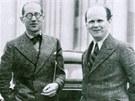 Bohuslav Fuchs (na snímku vpravo) se v roce 1935 setkal s francouzským zakladatelem funkcionalismu Le Corbusierem.