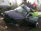 Tragická dopravní nehoda na dálnici v Prostějově. (9. února 2011)