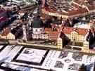 Jiří Trojan letá s Tulákem a fotí města a vesničky pod sebou. Zde vyfotil Jaroměřice.