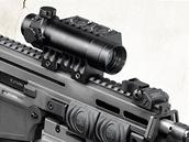 CZ 805 BREN A1 Přeřaďovač režimu střelby. Bílou tečkou je vyznačená zajištěná zbraň.