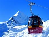 Dnes vyváží lyžaře na ledovec pod Kitzsteinhornem lanovka GletscherJet