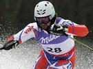 Český lyžař Filip Trejbal ve slalomu na mistrovství světa