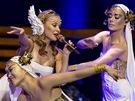 Australsk� zp�va�ka Kylie Minogue p�edstavila �esku desku Aphrodite (Praha, 2. b�ezna 2011)