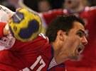 David Juříček zakončující v reprezentačním duelu proti Norsku.
