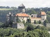 Hrad Sovinec na Bruntálsku.