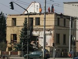 Demolice vily č. 731 ve Střelecké ulici v Hradci Králové