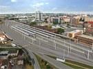 Plánovaný vzhled hlavního nádraží po rekonstrukci olomouckého železničního